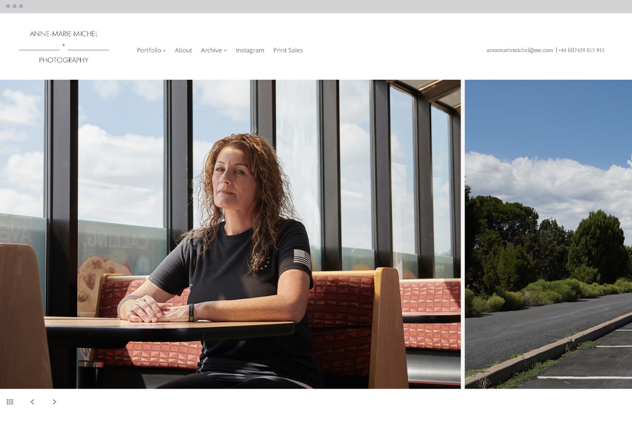 Horizon photo website template