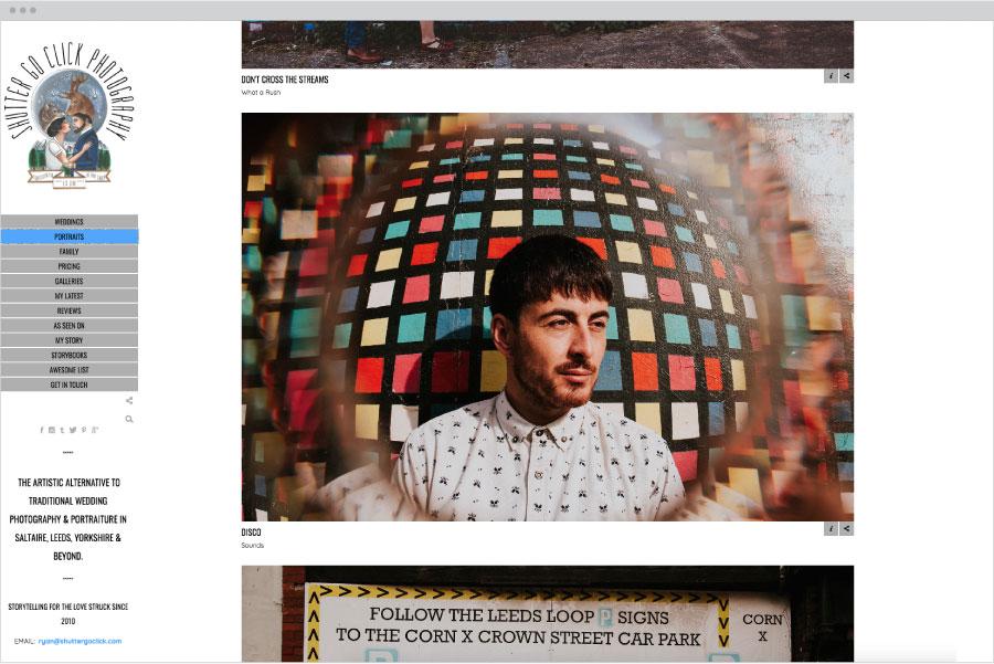 Pivot photo website template